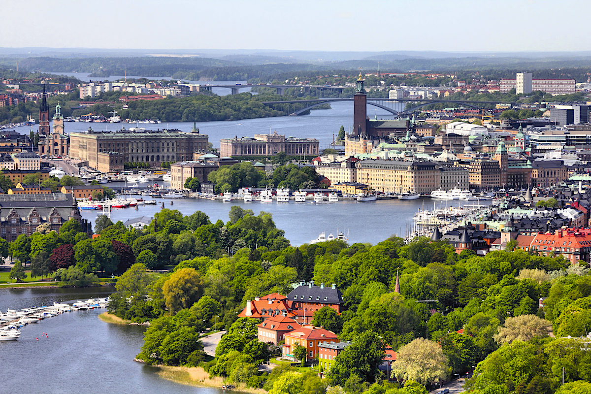 Stockholm spreads across 14 islands, making it a popular cruise port